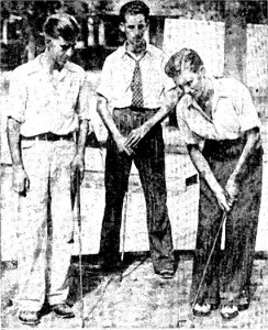 Miniature golf players, circa 1930. Photo courtesy of the San Antonio Light.